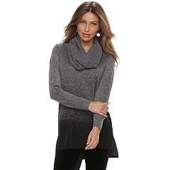 Women's Apt. 9® Ombre Removeable Scarf Tunic Sweater