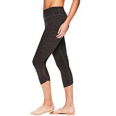 Women's Gaiam Om Power Marled Yoga Capri Leggings