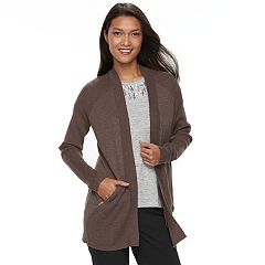 Women's Apt. 9® Zip Pocket Open-Front Cardigan