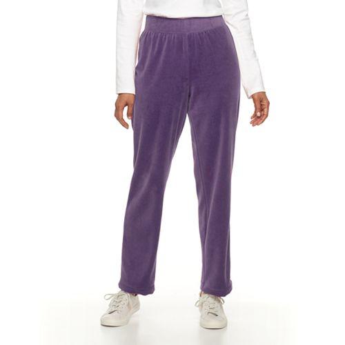 Women's Croft & Barrow® Pull-On Velour Pant