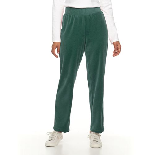 Women's Croft & Barrow® Pull-On Velour Pant