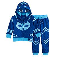 Toddler Boy PJ Masks 2-pc. Catboy Mask Zip Hoodie & Jogger Pants Set