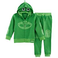 Toddler Boy PJ Masks 2-pc. Gekko Mask Zip Hoodie & Jogger Pants Set