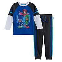 Toddler Boy PJ Masks 2-pc. Catboy, Gekko & Owlette Mock Layer Tee & Jogger Pants Set