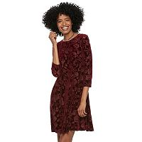 Women's SONOMA Goods for Life™ Velvet Swing Dress