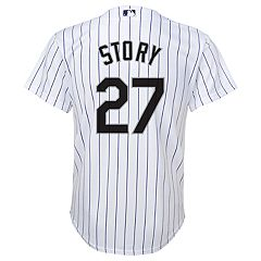 Boys 8-20 Majestic Colorado Rockies Trevor Story Cool Base Replica Jersey