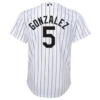 Boys 8-20 Majestic Colorado Rockies Carlos Gonzalez Cool Base Replica Jersey