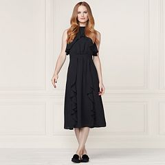 LC Lauren Conrad Runway Collection Ruffle Midi Dress - Women's