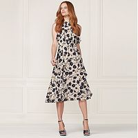 LC Lauren Conrad Runway Collection Ruffle Midi Dress - Women's