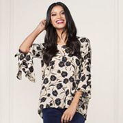LC Lauren Conrad Runway Collection Print Flutter Top - Women's