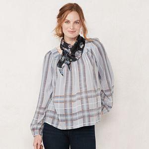 Women's LC Lauren Conrad Shirred Peasant Top