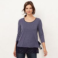 Women's LC Lauren Conrad Mock-Layer Tunic