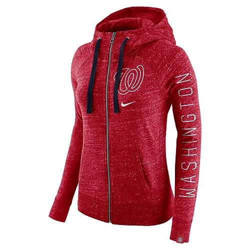 the latest 75637 5f43d Women's Nike Washington Nationals Vintage Hoodie
