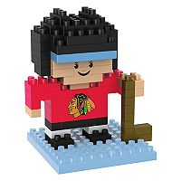 Forever Collectibles Chicago Blackhawks BRXLZ 3D Mini Player Puzzle Set