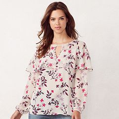 Women's LC Lauren Conrad Flounce Peasant Top