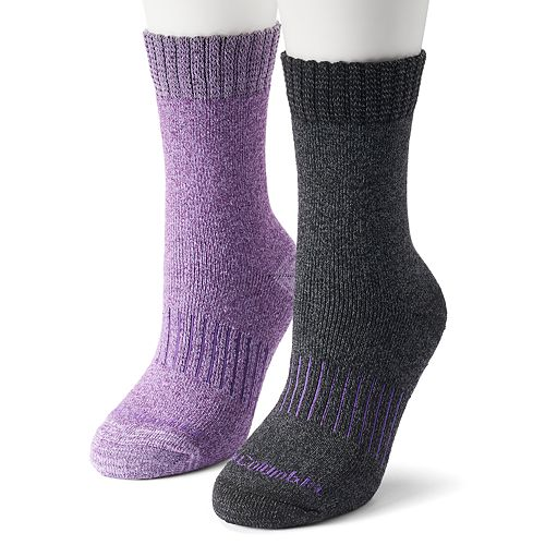 Women's Columbia 2-pk. Space-Dyed Cotton Blend Crew Socks