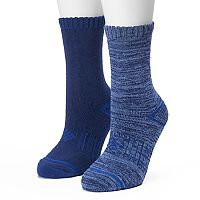 Women's Columbia 2 pkBlue Space Dye Cushioned Crew Socks