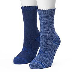 Women's Columbia 2-pk. Blue Space Dye Cushioned Crew Socks