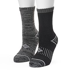 Women's Columbia 2-pk. Space Dye Cushioned Crew Socks