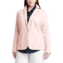 Plus Size Chaps Knit Blazer