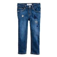 Toddler Girl Jumping Beans® Star Embroidered Skinny Jeans