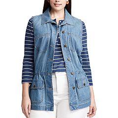 Plus Size Chaps Jean Vest