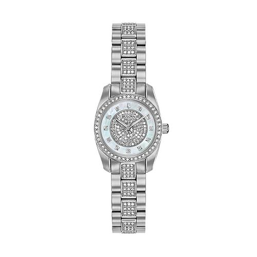 Bulova Women's Crystal Pave Stainless Steel Watch - 96L253