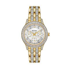 Bulova Women's Crystal Stainless Steel Watch - 98N112