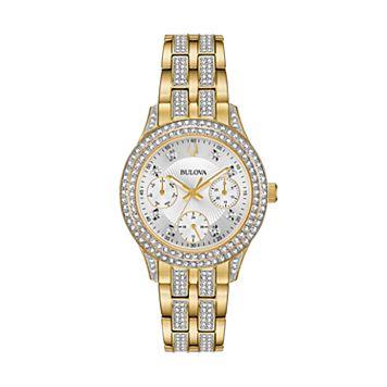 Bulova Women's Crystal Stainless Steel Watch - 98N112