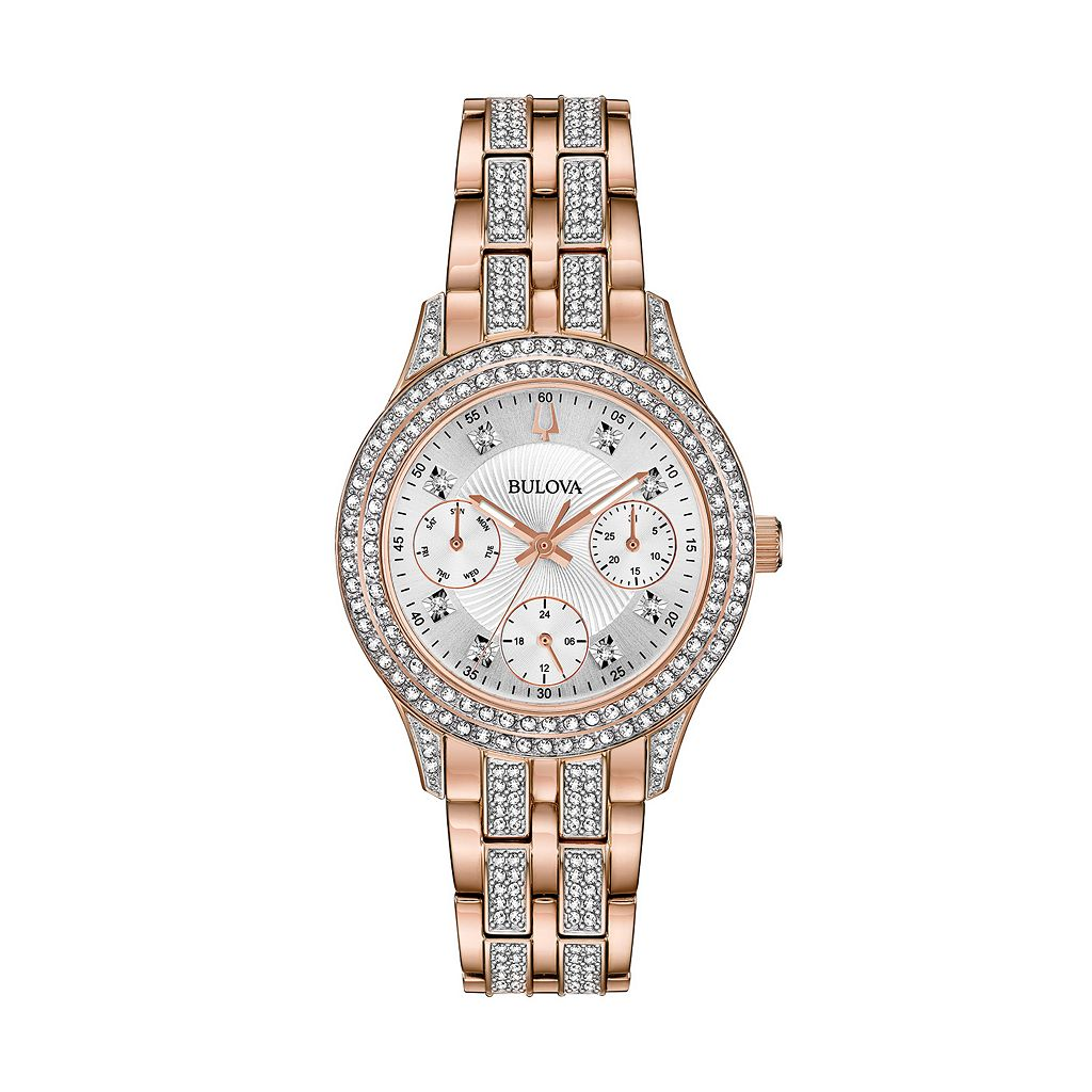 Bulova Women's Crystal Stainless Steel Watch - 98N113
