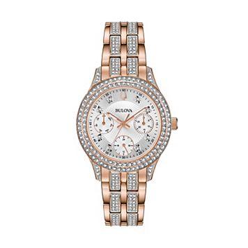 Bulova Women's Crystal Stainless Steel Watch - 98N113