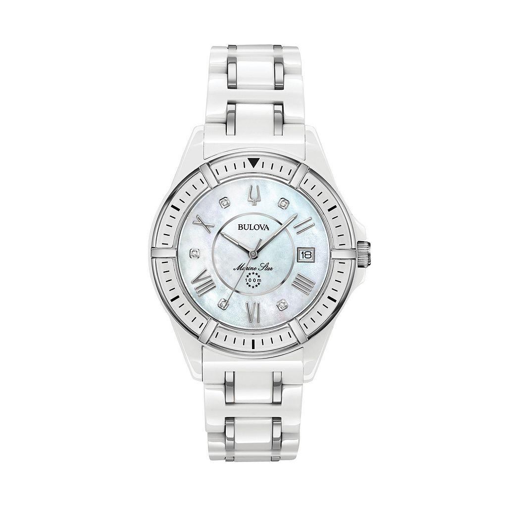 Bulova Women's Marine Star Diamond Ceramic Watch - 98P172