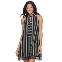 Juniors' Candie's® Choker Tie-Neck Shift Dress