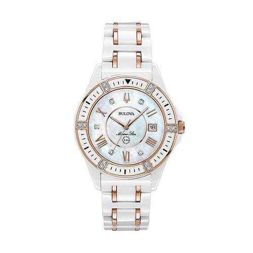 Bulova Women's Marine Star Diamond Ceramic Watch - 98R241