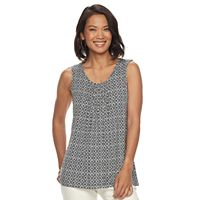 Women's Croft & Barrow® Print Scoopneck Tank