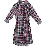 Girls 7-16 Speechless Plaid Shirtdress