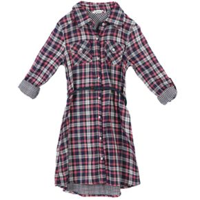 Girls 7-16 Speechless Plaid Shirtdress