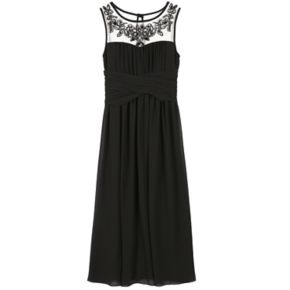 Girls 7-16 Speechless Embellished Illusion Neckline Maxi Dress