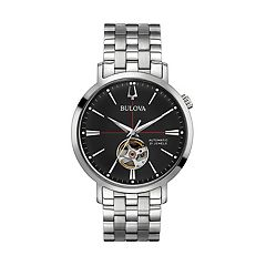 Bulova Men's Classic Stainless Steel Automatic Skeleton Watch - 96A199
