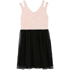 Girls 7-16 & Plus Size Speechless Glitter Lace Tulle Dress