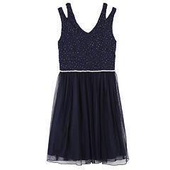 Girls 7-16 & Plus Size Speechless Glitter Lace Tulle Dress