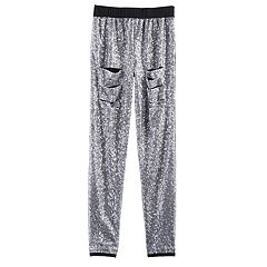 Girls 7-16 American Girl Sequin Destructed Leggings