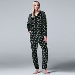 Women's Simply Vera Vera Wang Pajamas: Weekend Retreat One-Piece Pajamas