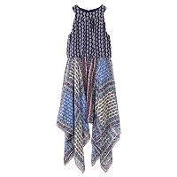 Girls 7-16 & Plus Size Speechless Mixed Print Halter Top Sharkbite Hem Dress