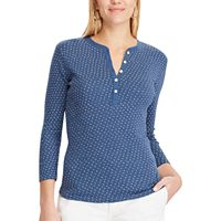 Petite Chaps 3/4-Length Henley Top