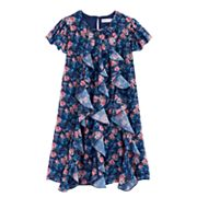 Girls 7-16 American Girl Flutter Sleeve Floral Dress