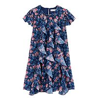 Girls 7-16 American Girl Flutter Sleeve Floral Dress