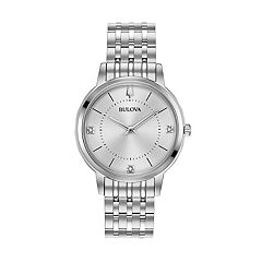 Bulova Men's Classic Diamond Stainless Steel Watch - 96P183
