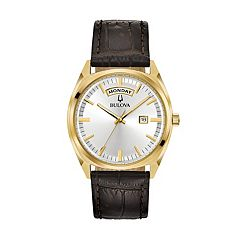 Bulova Men's Classic Leather Watch - 97C106