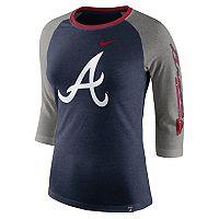 Women's Nike Atlanta Braves Triblend Tee